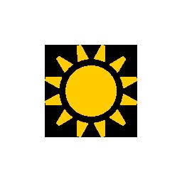 Cielo despejado, totalmente soleado