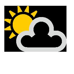 Sol y parcialmente nuboso